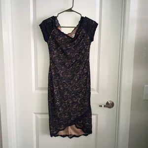 Bisou Bisou Navy Lace Dress